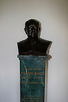 A bust of company founder Edoardo Bianchi, on dispaly in reception Bianchi Factory, Treviglio, Italy. 30th September 2015.<br /> Picture: Eoin Clarke | Newsfile