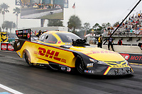 27th September 2020, Gainsville, Florida, USA;  Funny Car driver J.R. Todd (373) DHL during the 51st annual Amalie Motor Oil NHRA Gatornationals