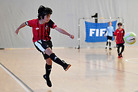 Yume Endo of Selwyn College in action during the Futsal NZ Secondary Schools Junior Boys Final between Hamilton Boys High School and Selwyn College at ASB Sports Centre, Wellington on 26 March 2021.<br /> Copyright photo: Masanori Udagawa /  www.photosport.nz