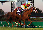 November 14, 2015 Isabella Sings (Paco Lopez) wins the 25th running of the G2 Mrs. Revere at Churchill Downs.  Owner Siena Farm LLC (Anthony Manganaro), trainer Todd Pletcher. By Eskendereya x Isobel Baillie, by Lomitas. ©Mary M. Meek/ESW/CSM