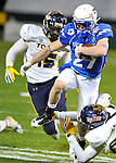 Air Force wide receiver Ty MacArthur runs for yardage in then Military Bowl at Robert F. Kennedy Stadium in Washington, D.C. on December 28, 2011. Toledo defeated Air Force 42-41 after a failed two-point conversion in the final minute.