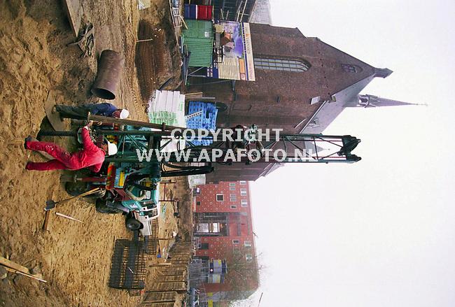 Nijmegen,24-11-99 Foto:Koos Groenewold (APA-Foto)<br />Het Marienburgproject.op de achtergrond het nieuwe Poortgebouw.<br />bij verhaal Job Slok,APA-Redaktie