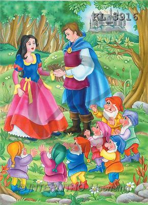 Interlitho, Nino, CUTE ANIMALS, puzzle, paintings, snow white, prince(KL3916,#AC#) illustrations, pinturas, rompe cabeza