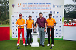 Group 11 pose with Sir Nick Faldo prior to day 3 of the 9th Faldo Series Asia Grand Final 2014 golf tournament on March 20, 2015 at Faldo course in Mid Valley Golf Club in Shenzhen, China. Photo by Xaume Olleros / Power Sport Images