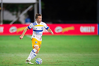 LAKE BUENA VISTA, FL - JULY 27: Tommy Thompson #22 of the San Jose Earthquakes dribbles the ball during a game between San Jose Earthquakes and Real Salt Lake at ESPN Wide World of Sports on July 27, 2020 in Lake Buena Vista, Florida.