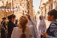 Israel,Jerusalem,pakistan tourist women walk in the muslim quarter