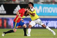 Spain's Nacho Fernandez (l) and Colombia's Edwin Cardona during international friendly match. June 7,2017.(ALTERPHOTOS/Acero) (NortePhoto.com) (NortePhoto.com)