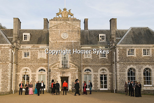Country mansion British society wealth landed gentry private home, Farleigh House, Farleigh Wallop, Hampshire.  UK 2008