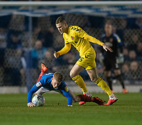 Fleetwood Town's Paul Coutts (right) vies for possession with Portsmouth's Andy Cannon (left) <br /> <br /> Photographer David Horton/CameraSport<br /> <br /> The EFL Sky Bet League One - Portsmouth v Fleetwood Town - Tuesday 10th March 2020 - Fratton Park - Portsmouth<br /> <br /> World Copyright © 2020 CameraSport. All rights reserved. 43 Linden Ave. Countesthorpe. Leicester. England. LE8 5PG - Tel: +44 (0) 116 277 4147 - admin@camerasport.com - www.camerasport.com