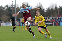 Gilly Flaherty of West Ham during West Ham United Women vs Arsenal Women, Women's FA Cup Football at Rush Green Stadium on 26th January 2020