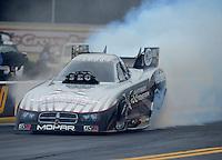 Oct. 8, 2012; Mohnton, PA, USA: NHRA funny car driver Jack Beckman during the Auto Plus Nationals at Maple Grove Raceway. Mandatory Credit: Mark J. Rebilas-