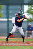 Cleveland Indians Daniel Salters (8) during an instructional league game against the Los Angeles Dodgers on October 15, 2015 at the Goodyear Ballpark Complex in Goodyear, Arizona.  (Mike Janes/Four Seam Images)