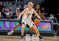 WASHINGTON, DC - JANUARY 28: Mac McClung #2 of Georgetown on the ttack during a game between Butler and Georgetown at Capital One Arena on January 28, 2020 in Washington, DC.