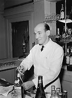 Whatcha Know Joe?: Portrait of Joe Helbock, bartender at Charlie's Tavern. New York, N.Y., March 1947.<br /> <br /> Photo by William Gottlieb.