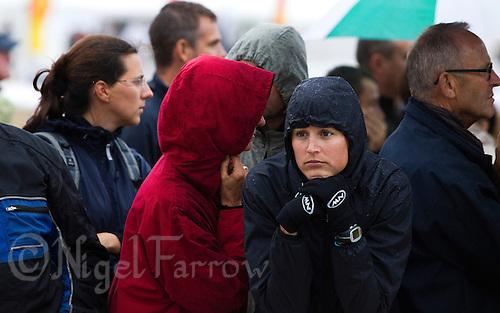 17 SEP 2011 - LA BAULE, FRA - Melanie Annaheim watches the final round of the men's French Grand Prix Series at the Triathlon Audencia in La Baule, France (PHOTO (C) NIGEL FARROW)