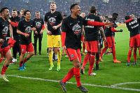 18.04.2018, Football DFB Pokal 2017/2018, semi final , FC Schalke 04 - Eintracht Frankfurt, in Veltins Arena auf Schalke.  celebration  Frankfurter.  Jonathan de Guzman (middle,Eintracht Frankfurt)  *** Local Caption *** © pixathlon<br /> <br /> Contact: +49-40-22 63 02 60 , info@pixathlon.de