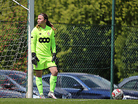 Goalkeeper Lise Musique (1) of Standard pictured during a female soccer game between Standard Femina de Liege and Oud Heverlee Leuven on the 10th and last matchday in play off 1 of the 2020 - 2021 season of Belgian Scooore Womens Super League , saturday 29 th of May 2021  in Angleur , Belgium . PHOTO SPORTPIX.BE | SPP | SEVIL OKTEM