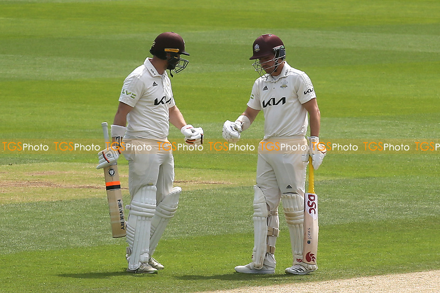 Surrey batsmen, Mark Stoneman and Rory Burns during Surrey CCC vs Somerset CCC, LV Insurance County Championship Group 2 Cricket at the Kia Oval on 13th July 2021