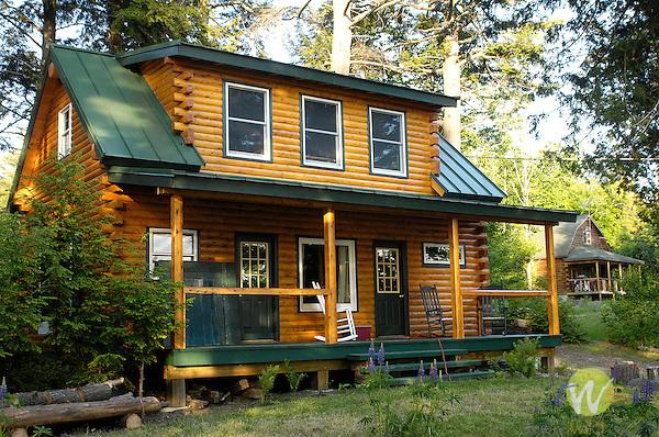 Ron Way log cabin at Moosehead Lake.