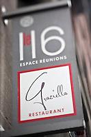 Amérique/Amérique du Nord/Canada/Québec/Montréal: Enseigne du restaurant italien: Graziella 116, rue Mc Gill