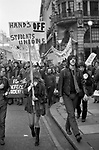 """Margaret Thatcher was Secretary of Sate for Education in the Edward Heath Conservative government. The protest is about Thatcher the Milk Snatcher"""" and  Fascist Tory Thatcher."""