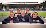 Five of Rangers new summer 2000 signings together at Ibrox: Kenny Miller, Fernando Ricksen, Peter Lovenkrands, Allan Johnston, Paul Ritchie
