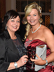 Elaine Kerr and Tara Mullarkey pictured at the Ardee Traders Awards night in the Nuremore hotel Carrickmacross. Photo:Colin Bell/pressphotos.ie