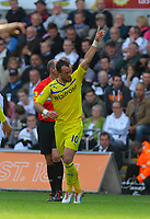 Saturday, 06 October 2012<br /> Pictured: Noel Hunt of Reading celebrating the second goal for his team.<br /> Re: Barclays Premier League, Swansea City FC v Reading at the Liberty Stadium, south Wales.