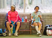 March 7, 2015, Netherlands, Hilversum, Tulip Tennis Center, NOVK, Mireille Bink with her doubles partner Debby Haak (NED) (R)<br /> Photo: Tennisimages/Henk Koster
