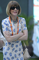 MIAMI GARDENS, FLORIDA - MARCH 22:  Anna Wintour on Day 5 of the Miami Open Presented by Itau at Hard Rock Stadium on March 22, 2019 in Miami Gardens, Florida<br /> <br /> People: Anna Wintour