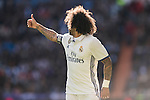 Marcelo Vieira Da Silva of Real Madrid reacts during their La Liga match between Real Madrid and Granada CF at the Santiago Bernabeu Stadium on 07 January 2017 in Madrid, Spain. Photo by Diego Gonzalez Souto / Power Sport Images