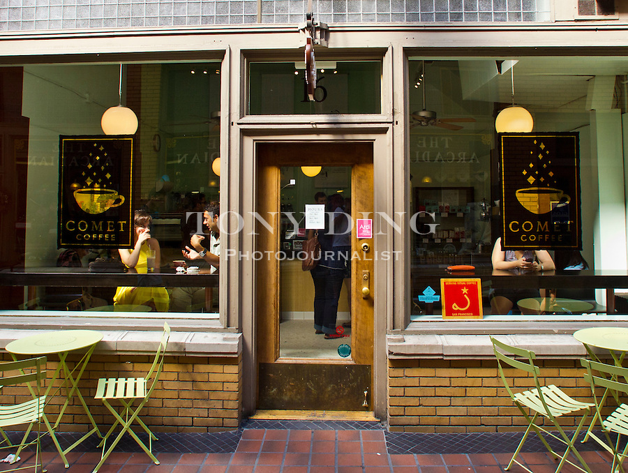 The one-room Comet Coffee, as intimate as the individually brewed cups of premium roasts from Ethiopia to El Salvador (16 Nickels Arcade, 734-222-0579), Friday, Sept. 2, 2011 in Ann Arbor, Mich. (Tony Ding for The New York Times)