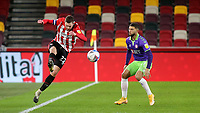 Henrik Dalsgaard of Brentford and Denmark in action during Brentford vs Bristol City, Sky Bet EFL Championship Football at the Brentford Community Stadium on 3rd February 2021