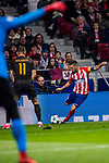 Filipe Luis of Atletico de Madrid clicks the ball during the UEFA Champions League 2017-18 match between Atletico de Madrid and AS Roma at Wanda Metropolitano on 22 November 2017 in Madrid, Spain. Photo by Diego Gonzalez / Power Sport Images