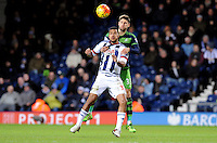 Federico Fernandez of Swansea City and Jose Salomon Rondon of West Bromwich Albion  during the Barclays Premier League match between West Bromwich Albion and Swansea City at The Hawthorns on the 2nd of February 2016