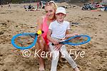 Enjoying Ballybunion beach on Sunday, l to r: Justina and Leona Tarasiuk.