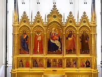 Weinitzer Altar des Nardo di Cione um 1350 Schloss Weinitz- Bojnicky zamok in Bojnice, Trenciansky kraj, Slowakei, Europa<br /> Altar of Nardo di Cone 1350 in castle Bojnicky zamok in Bojnice, Trenciansky kraj, Slovakiai, Europe