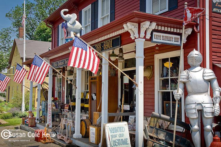White Elephant antique shop in Essex, North Shore, MA, USA