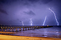 Lightning over Boston Bay Australia