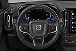 Car pictures of steering wheel view of a 2021 Volvo XC40-Recharge - 5 Door SUV Steering Wheel