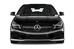 Car photography straight front view of a 2014 Mercedes Benz CLA Class 45 AMG 4 Door Sedan