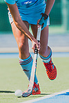 GER - Mannheim, Germany, May 05: During the women field hockey 1. Bundesliga match between Mannheimer HC (red) and Uhlenhorster HC Hamburg (light blue) on May 5, 2018 at Am Neckarkanal in Mannheim, Germany. Final score 1-3. (Photo by Dirk Markgraf / www.265-images.com) *** Local caption ***