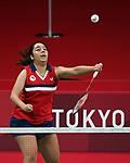 Olivia Meier, Tokyo 2020 - Para Badminton // Parabadminton.<br /> Olivia Meier competes in Women's Singles SL4 Group Play // Olivia Meier participe à la simples SL4 de femmes. 09/2/2021.