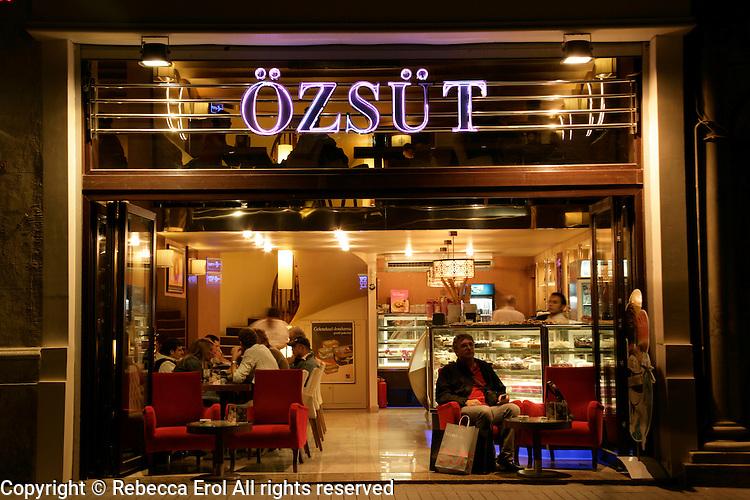 Ozsut pudding shop on Istiklal Caddesi in Taksim, Istanbul, Turkey