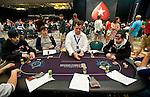 Team Pokerstars Pros Jason Mercier, left, and Jonathan Duhamel, right, at the same table.