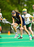 1 May 2010: University of New Hampshire Wildcat midfielder Amber Casiano, a Freshman from South Windsor, CT, in action against the University of Vermont Catamounts at Moulton Winder Field in Burlington, Vermont. The visiting Wildcats defeated the Lady Catamounts 18-10 in the last game of the 2010 regular season. Mandatory Photo Credit: Ed Wolfstein Photo