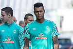 15.09.2020, Trainingsgelaende am wohninvest WESERSTADION - Platz 12, Bremen, GER, 1.FBL, Werder Bremen Training<br /> <br /> Die Mannschaft kommt zu Training <br /> <br /> Marco Friedl (Werder Bremen #32)<br /> Davie Selke  (SV Werder Bremen #09)<br /> <br /> <br /> <br /> Foto © nordphoto / Kokenge