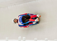 4 December 2015: Lukas Broz and Antonin Broz, sliding for the Czech Republic, bank into a turn on their first run of the Doubles Competition during the Viessmann Luge World Cup Series at the Olympic Sports Track in Lake Placid, New York, USA. Mandatory Credit: Ed Wolfstein Photo *** RAW (NEF) Image File Available ***