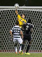 Number 8 ranked Charlotte beats number 16 ranked Coastal Carolina 1-0 on a goal by Thomas Allen in the 101st minute during the second overtime.  Federico Bertele (0), Uchenna Uzo (2), Giuseppe Gentile (11)