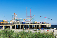 Atlantic City beach and Steel Pier amusement park, New Jersey, USA